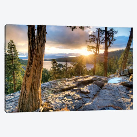 Emerald Bay Sunrise V Canvas Print #DEN113} by Dennis Frates Canvas Art