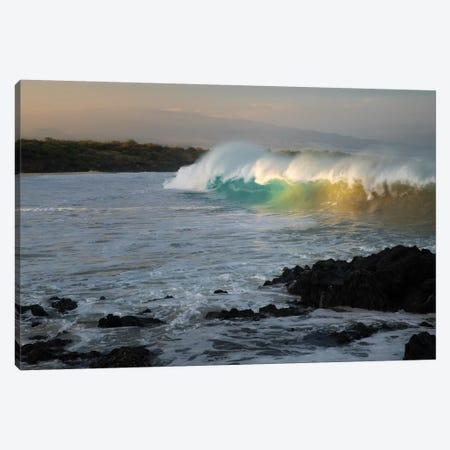 First Light Wave Canvas Print #DEN119} by Dennis Frates Canvas Wall Art