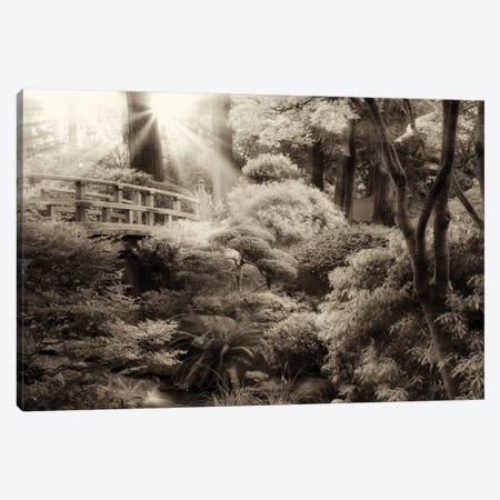 Garden Bridge Canvas Print #DEN132} by Dennis Frates Canvas Artwork