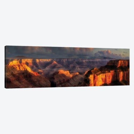 Grand Canyon Panoramic Canvas Print #DEN141} by Dennis Frates Canvas Print
