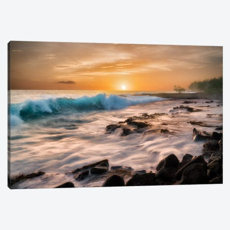Hawaii Sunset Canvas Print #DEN152} by Dennis Frates Canvas Art