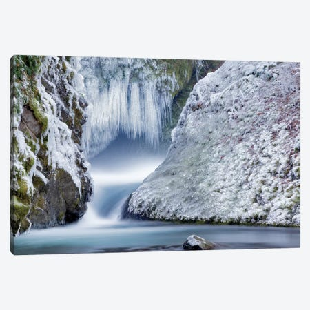 Icy Falls Canvas Print #DEN158} by Dennis Frates Canvas Wall Art