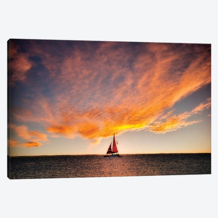 Into The Sunset Canvas Print #DEN160} by Dennis Frates Art Print