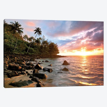 Kauai Sunset Canvas Print #DEN164} by Dennis Frates Canvas Art