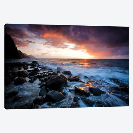 Kea Sunset Canvas Print #DEN165} by Dennis Frates Canvas Artwork