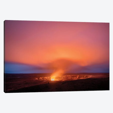 Kīlauea Volcano Glows Canvas Print #DEN166} by Dennis Frates Canvas Artwork