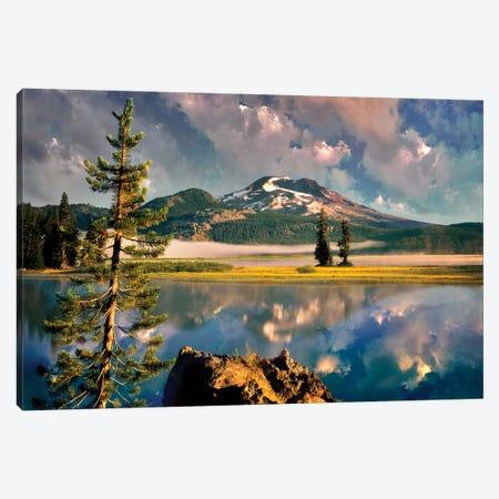 Lake Sunrise Canvas Print #DEN169} by Dennis Frates Canvas Art Print