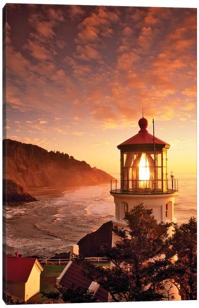 Lighthouse Sunset Canvas Art Print