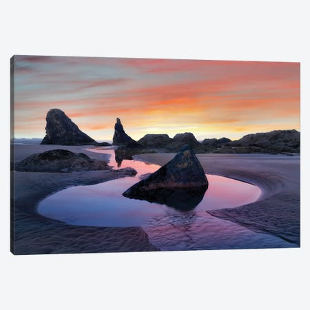 Low Tide I Canvas Print #DEN186} by Dennis Frates Canvas Wall Art