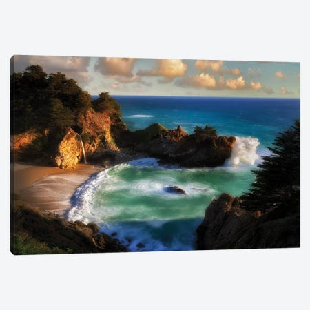 Magic Coast Canvas Print #DEN190} by Dennis Frates Canvas Artwork