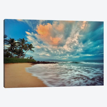 Maui Sunset Canvas Print #DEN195} by Dennis Frates Art Print