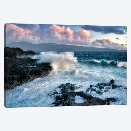 Maui Waves And Sunrise Canvas Print #DEN196} by Dennis Frates Canvas Art Print