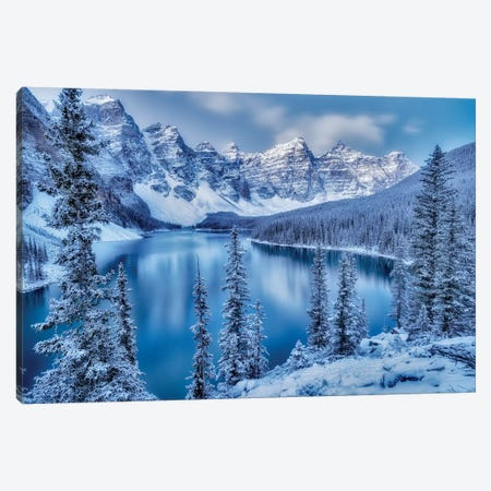 Moraine Lake Blue Hour Canvas Print #DEN212} by Dennis Frates Art Print
