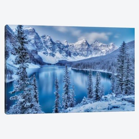 Moraine Lake Blue Hour Canvas Print #DEN212} by Dennis Frates Art Print