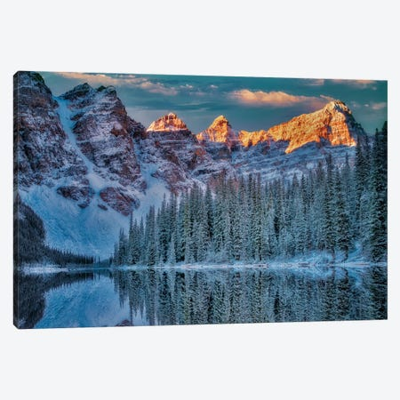 Moraine Sunrise I Canvas Print #DEN213} by Dennis Frates Art Print