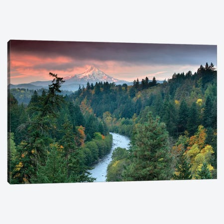 Mt. Hood Autumn II Canvas Print #DEN223} by Dennis Frates Canvas Wall Art