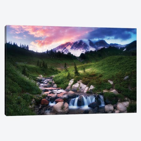 Mt. Rainier Sunset Canvas Print #DEN224} by Dennis Frates Art Print