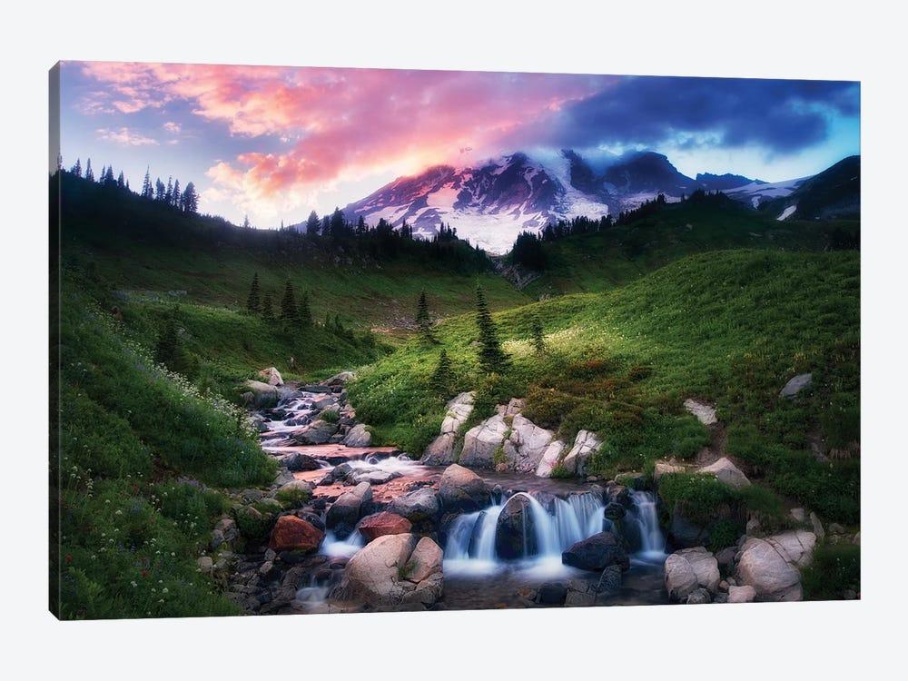 Mt. Rainier Sunset by Dennis Frates 1-piece Canvas Print