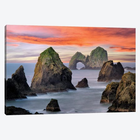 Ocean Arch Sunset Canvas Print #DEN226} by Dennis Frates Art Print