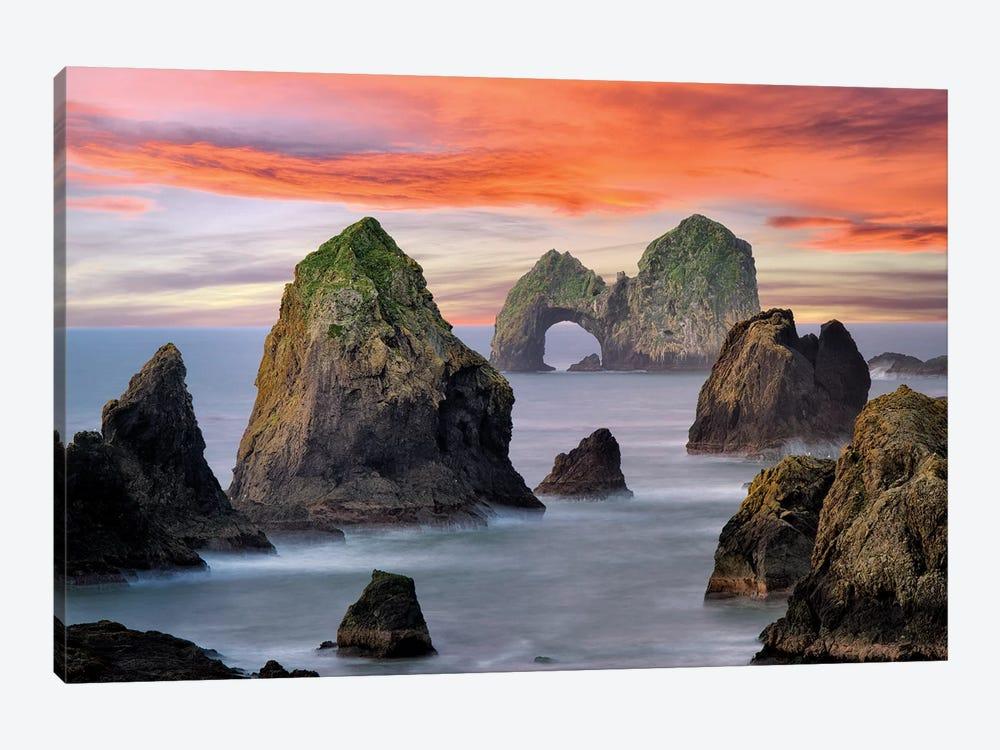 Ocean Arch Sunset by Dennis Frates 1-piece Canvas Art Print