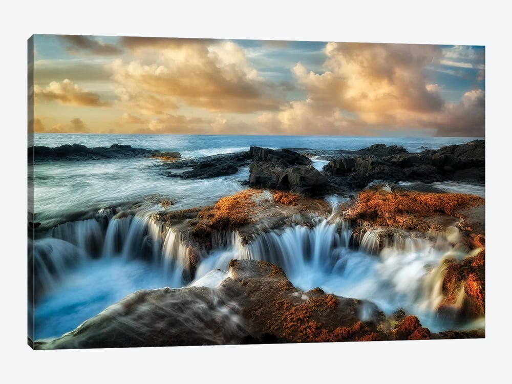 Ocean Well Sunset by Dennis Frates 1-piece Canvas Print