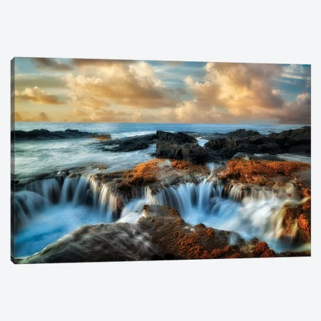 Ocean Well Sunset Canvas Print #DEN231} by Dennis Frates Canvas Art Print