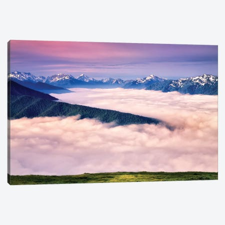 Olympic Sunrise Canvas Print #DEN236} by Dennis Frates Canvas Wall Art