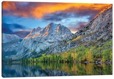 Autumn Lake Canvas Art Print