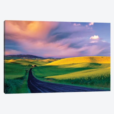 Palouse Road 3-Piece Canvas #DEN244} by Dennis Frates Canvas Art Print