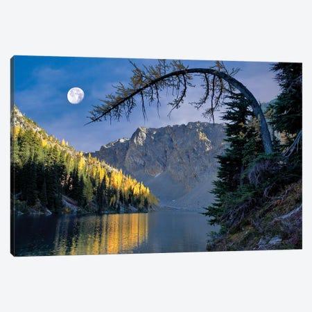 Autumn Moon Reflection Canvas Print #DEN24} by Dennis Frates Canvas Artwork