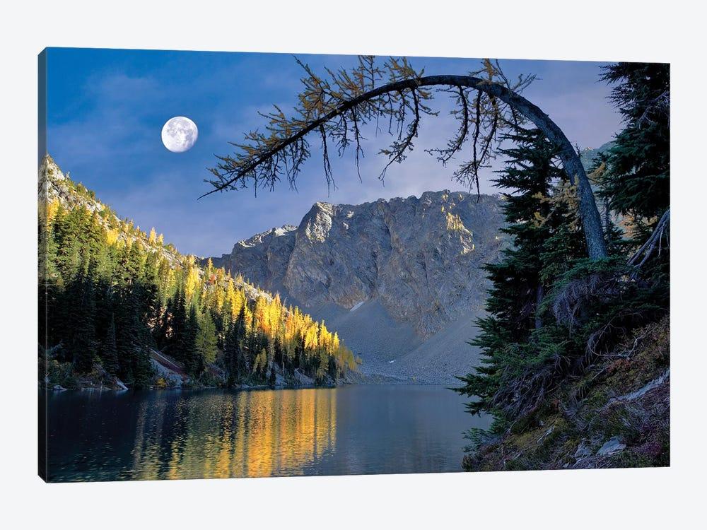 Autumn Moon Reflection by Dennis Frates 1-piece Canvas Art