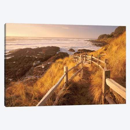 Pathway To The Beach 3-Piece Canvas #DEN250} by Dennis Frates Art Print
