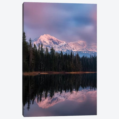 Peak Sunset Canvas Print #DEN253} by Dennis Frates Art Print