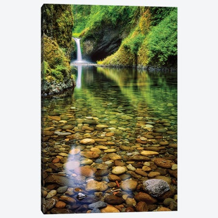 Peeble Falls Canvas Print #DEN255} by Dennis Frates Canvas Wall Art