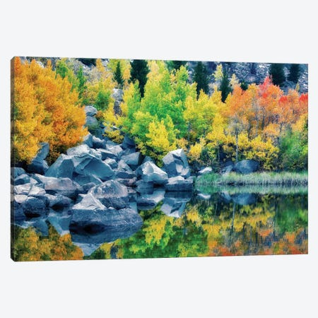 Autumn Reflection I Canvas Print #DEN25} by Dennis Frates Canvas Wall Art