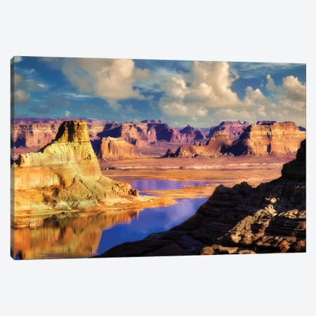 Powel Reflection Canvas Print #DEN260} by Dennis Frates Canvas Artwork