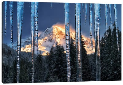 Rainier Ice Canvas Art Print