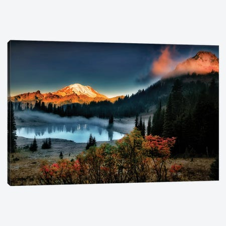 Rainier Sunrise Canvas Print #DEN269} by Dennis Frates Canvas Art
