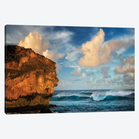 Rock And Surf Canvas Print #DEN277} by Dennis Frates Canvas Art