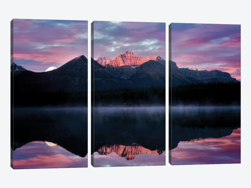Rockies Reflection by Dennis Frates 3-piece Canvas Art Print