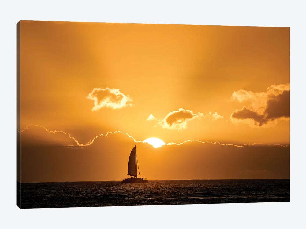 Sailboat Sunset I by Dennis Frates 1-piece Canvas Art