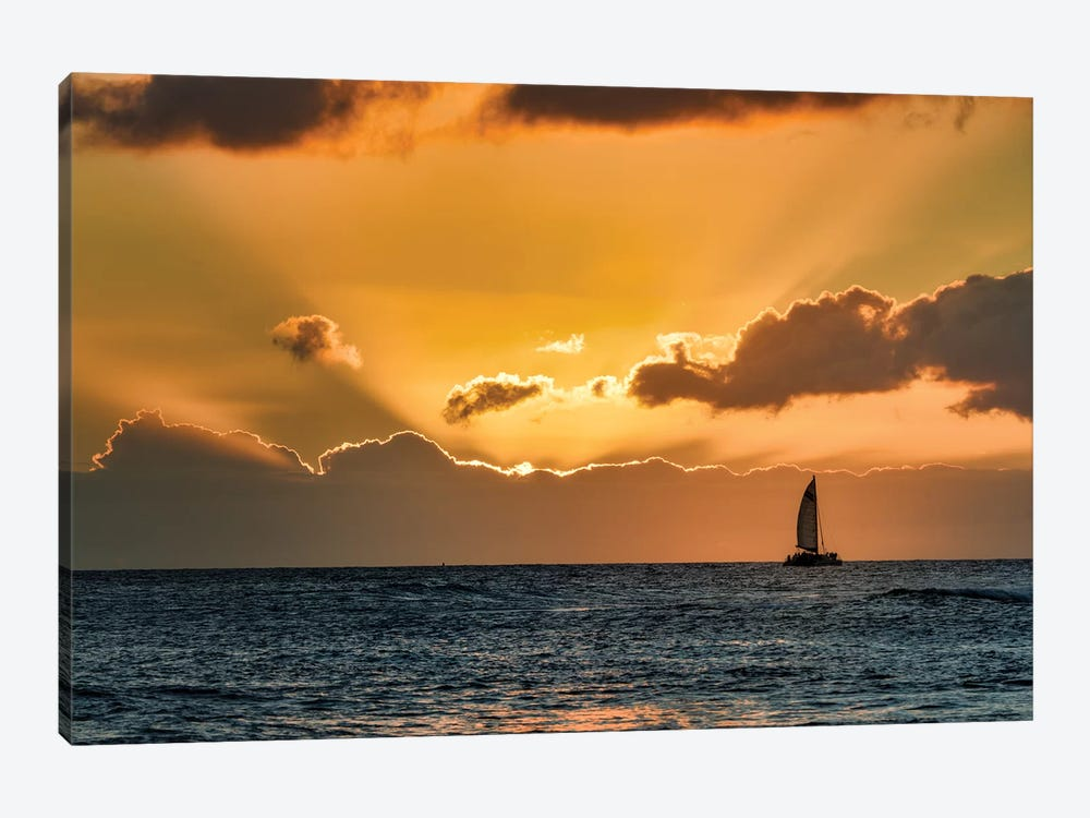 Sailboat Sunset II by Dennis Frates 1-piece Canvas Wall Art