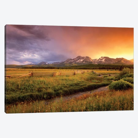 Sawtooth Sunrise Canvas Print #DEN293} by Dennis Frates Canvas Art Print