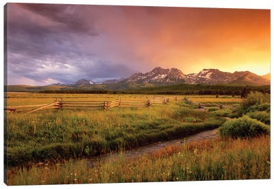 Sawtooth Sunrise Canvas Art Print