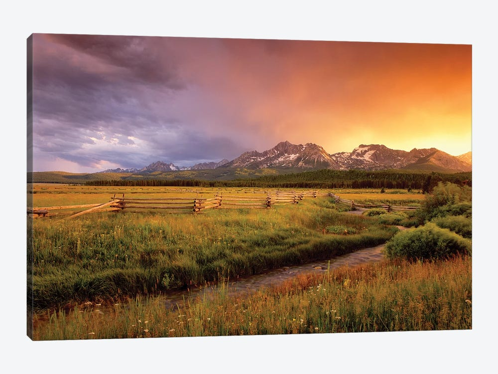 Sawtooth Sunrise 1-piece Canvas Art Print
