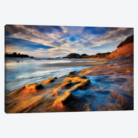 Seal Rock Sunset Canvas Print #DEN301} by Dennis Frates Canvas Art Print