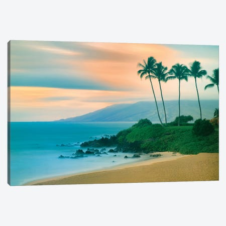 Seaside Sunset Canvas Print #DEN302} by Dennis Frates Canvas Print