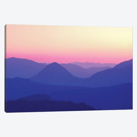 Silhouetted Hills Canvas Print #DEN308} by Dennis Frates Art Print