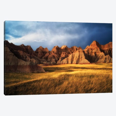 Badlands Canvas Print #DEN30} by Dennis Frates Canvas Artwork