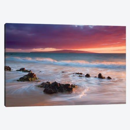 Soft Maui Sunset Canvas Print #DEN315} by Dennis Frates Canvas Art Print